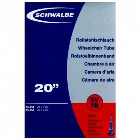 Chambre à air SCHWALBE SV7B 20x0.90/1 Presta 40mm