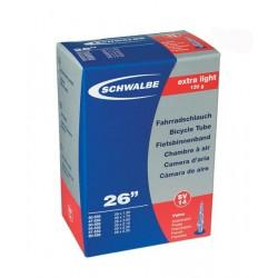 Chambre à air SCHWALBE EXTRA LIGHT SV20 700x18/25c Presta 60mm