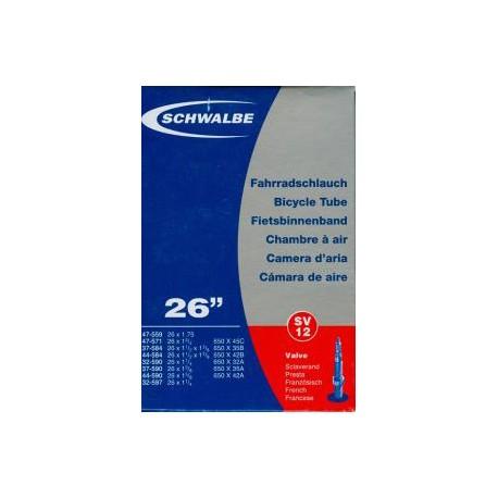 Chambre air schwalbe sv12 presta 40mm for Chambre a air velo 26x1 95