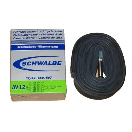 Chambre air schwalbe av12 26x1 1 4 schrader 40mm for Chambre a air 26x1 75