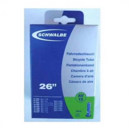 Chambre à air SCHWALBE AV15 700x18/28 Schrader 40mm