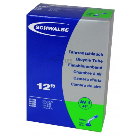 Chambre à air SCHWALBE AV1 45 12 1/2x2.1/4 Schrader 45°