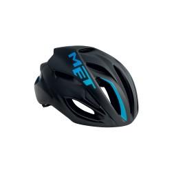 Casque MET RIVALE Noir/Bleu