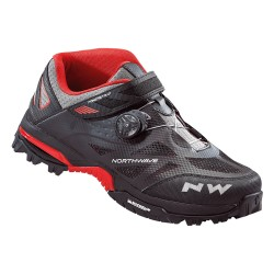 Chaussures NORTHWAVE Enduro Mid Noir/Rouge