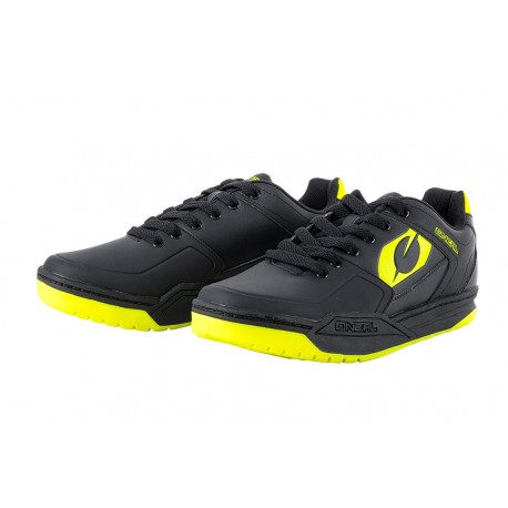 Chaussures ONEAL Pinned SPD Noir/Jaune Fluo