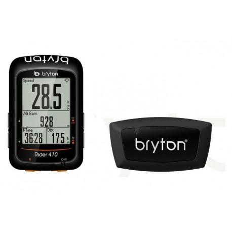 Compteur GPS Bryton Rider 410H + Ceinture Cardio