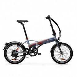 Vélo Pliant Electrique B'TWIN TILT 500 Gris/Orange