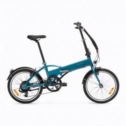 Vélo Pliant Electrique B'TWIN TILT 500 Bleu